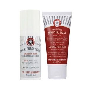 First Aid Beauty • Anti-Redness Serum + Clay Mask